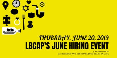LBCAP'S JUNE HIRING EVENT