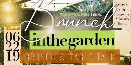 Millennials' United Present: Brunch in the Garden