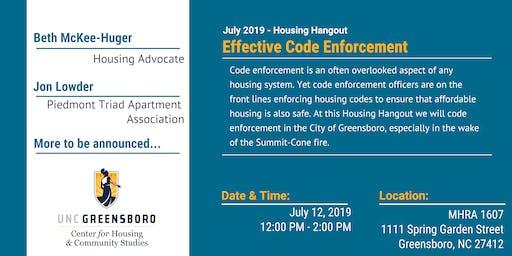 Effective Code Enforcement - July Housing Hangout