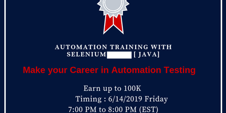 Copy of Automation testing training with selenium (java) demo tickets