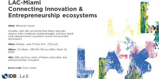 Bonfireside Chat with IDB Lab in Miami