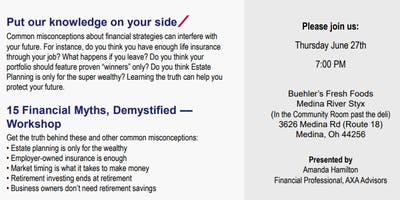 15 Financial Myths, Demystified – Medina Workshop