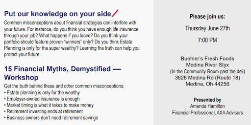 15 Financial Myths, Demystified – Medina Workshop