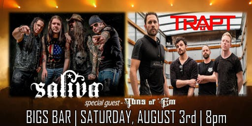 SALIVA + TRAPT at Bigs Bar Sioux Falls