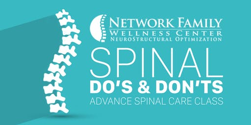 Do's and Don'ts Spinal Care Class