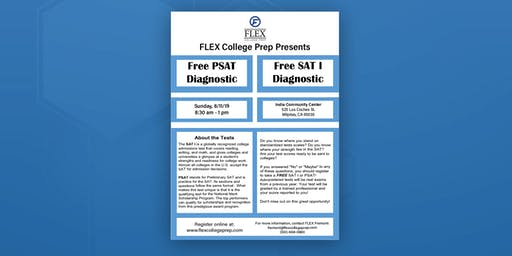 FLEX Fremont: Free PSAT or SAT I Diagnostic Tests