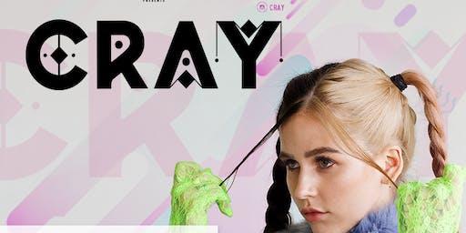 Cray at Bassmnt Saturday 8/10