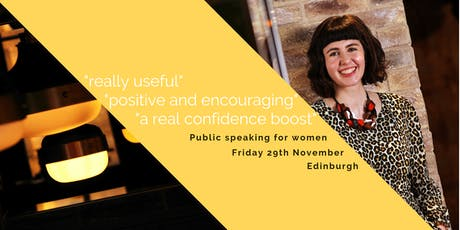 Public speaking for women tickets