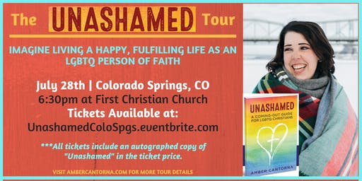 UNASHAMED BOOK TOUR: An Evening with Amber Cantorna