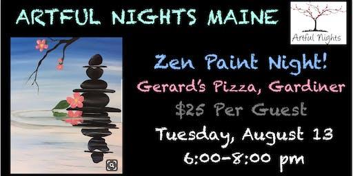 Zen Paint Night at Gerard's Pizza