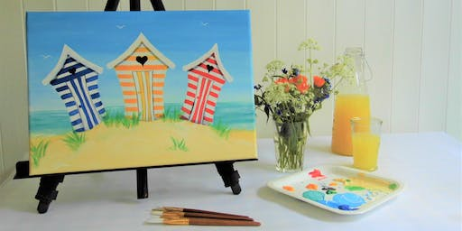 """Fabulous Beach Huts"" Paint, Brush & Party"