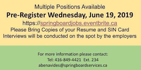 Springboard Hiring Event tickets