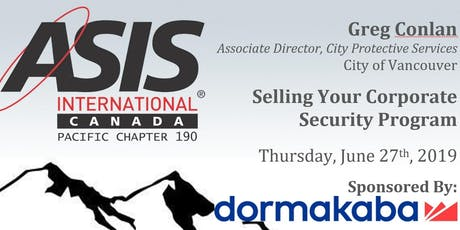 Selling Your Corporate Security Program with Greg Conlan tickets