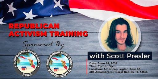 Republican Activism Training with Scott Presler Miami-Dade County