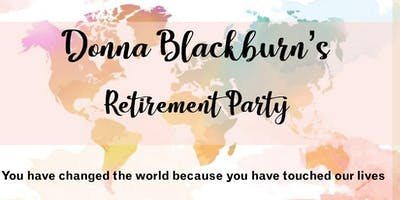 Donna Blackburn's Retirement Party