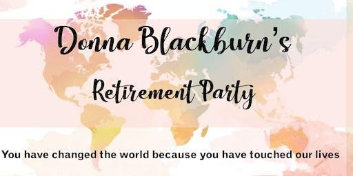 Donna Blackburn's Retirement Party