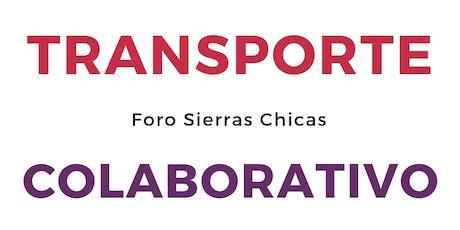 FORO DEL TRANSPORTE COLABORATIVO EN SIERRAS CHICAS entradas