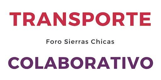 FORO DEL TRANSPORTE COLABORATIVO EN SIERRAS CHICAS