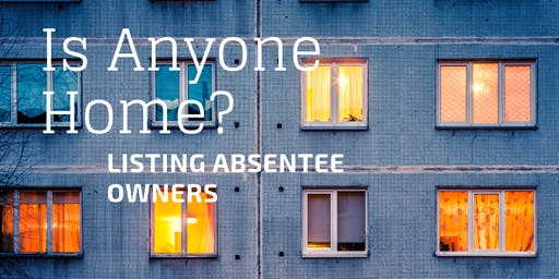 Listing Absentee Owners