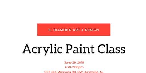 Acrylic Paint Class