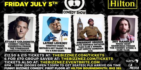 Funny Bizznez Comedy, Hilton Bournemouth tickets