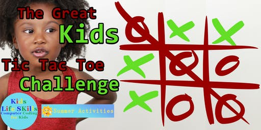 The great Tic Tac Toe challenge, parent and child age 7+