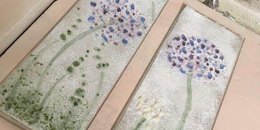 Plant pot stake Glass fusing taster workshop