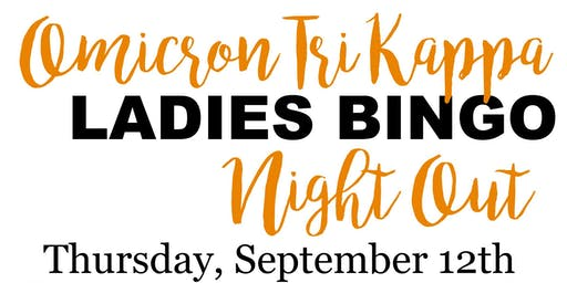 Omicron Tri Kappa Ladies Night Out Bingo