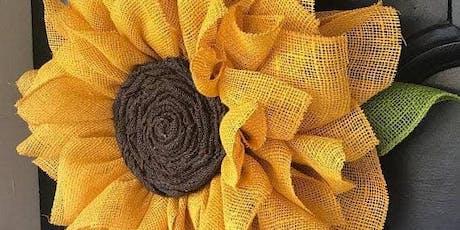 Make a Sunflower Wreath Aberdeen PM tickets