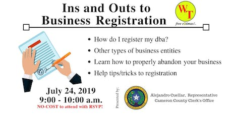 Ins and Outs to Business Registration tickets