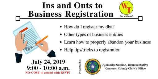 Ins and Outs to Business Registration