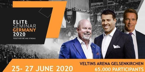 Elite Seminar 2020 Germany with Tony Robbins, Eric Worre and Arnold Schwarzenegger