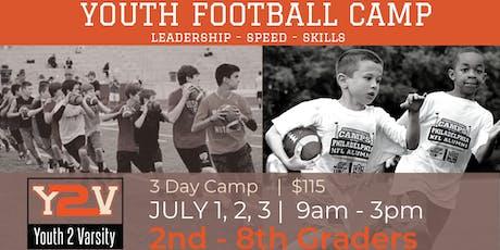 3 Day | Football Speed & Skills Camp (2ND-8TH GRADE) tickets