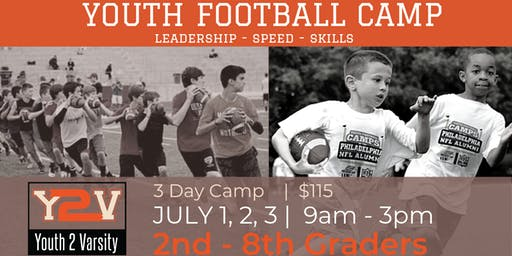 3 Day | Football Speed & Skills Camp (2ND-8TH GRADE)