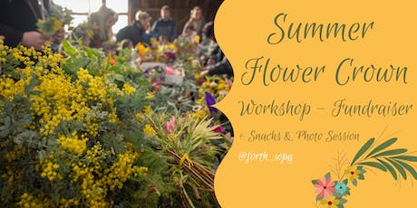 Summer Flower Crown Workshop Fundraiser  tickets