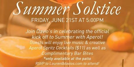 Summer Solstice Happy Hour at Davio's Atlanta tickets