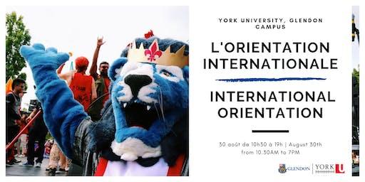 Orientation internationale 2019/2020 | International Orientation 2019/2020
