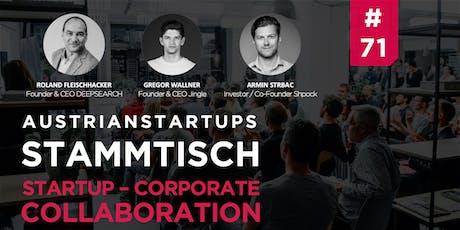 AustrianStartups Stammtisch #71: Startup-Corporate Collaboration tickets