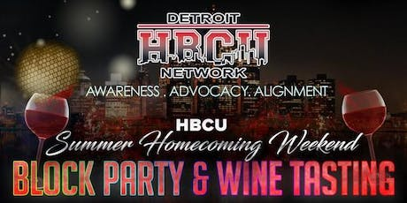 """Summer Homecoming"" Block Party & Wine Tasting! (STUDENT) tickets"
