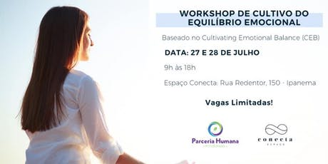 Workshop de Cultivo do Equilíbrio Emocional - Baseado no Cultivating Emotional Balance - 16 horas  ingressos