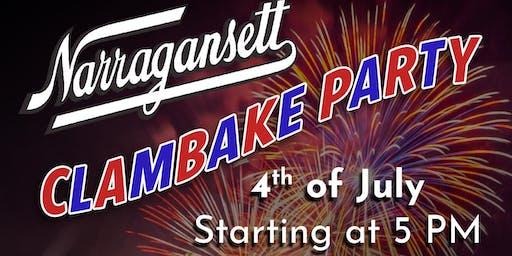 Narragansett Fourth of July Clambake Party