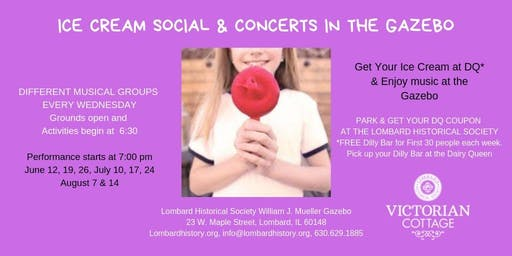 Ice Cream Social & Concert at the Gazebo
