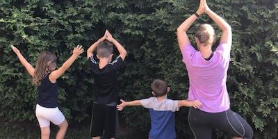 Kids Backyard Yoga- AGAIN!!