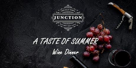"""A Taste of Summer"" wine dinner featuring Byron Blatty tickets"