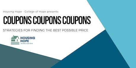 Coupons, Coupons, Coupons tickets
