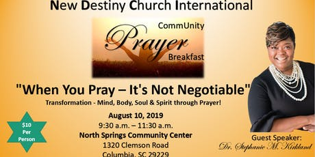 """""""When You Pray - It's Not Negotiable"""" tickets"""