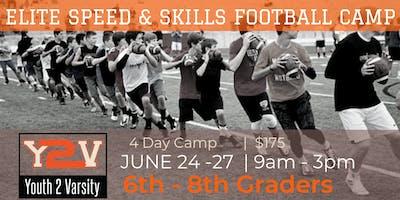 ELITE 4 Day Football Speed & Skills Camp (6TH-8TH GRADE)