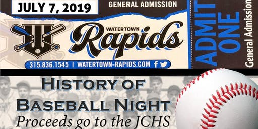 Watertown Rapids: Support History Night!