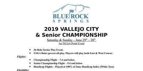 2019 Vallejo City and Senior Golf Championships tickets