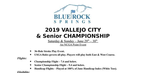 2019 Vallejo City and Senior Golf Championships